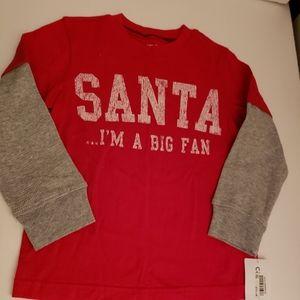 Boys Carters NWT Santa shirt 3T